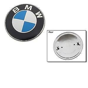 Genuine BMW Hood Emblem   OEM #: 51148132375   FRONT ALL MODELS