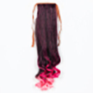 brand new:woman's ponytail with curlies at the end,pink end,wig