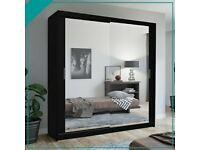 SAME DAY DELIVERY - 2&3 MIRRORED SLIDING DOOR CHICAGO WARDROBE IN STOCK -