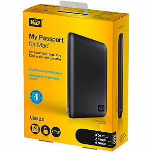 My Passport for Mac 320 GB USB 2.0 Portable External Hard Drive