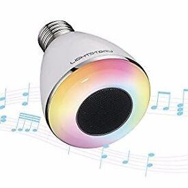Bluetooth Light Bulb Speaker, E27 Base 8W 6500K Color Changing Smart Music Bulb