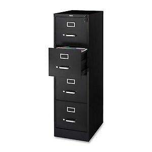 GLOBAL – BLACK 4 DRAWER LEGAL SIZE FILE CABINET INCLUDING LOCK.