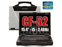 Panasonic Cf-52 Toughbook Laptop 6Gb 250 GB Windows 10 PRO 64 Bit Rugged.