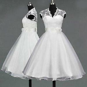 Tea Length Custom Wedding Dresses