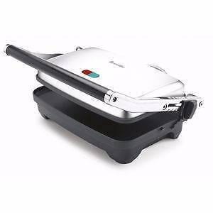 Used Breville 2 Slice Sandwich Press Chrome 10 only