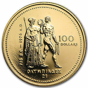 1976 Canada 1/4 oz Gold $100.00 Montreal Olympics Coin