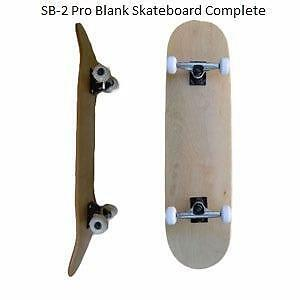 Easy People Skateboards Pro SB-2 & Semi-Pro SB-1 Natural-Stained-Graphic Completes Skateboard Deck Truck Wheel Bearings