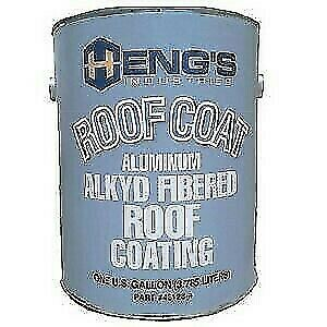 Hengs 43032 Aluminum Alkyd Fibered Roof Coating - 1 Quart