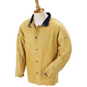 New Black Stallion Duralite Leather Welding Jacket Sm