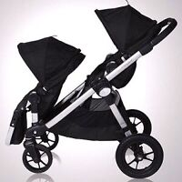Baby jogger city select double- with bassinett kit