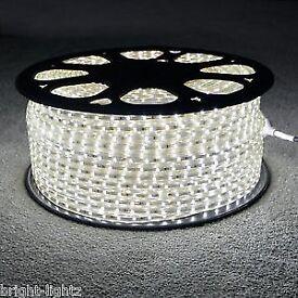 LED Strip 220V 240V IP68 Waterproof 3528 SMD Rope Garden DEcking Kitchen Lights - Cool White