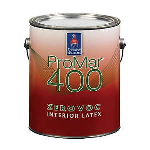 Pro 400 flat white Sherwin Williams new gallon