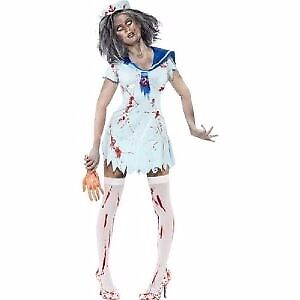 ZOMBIE / WALKING DEAD SAILOR FANCY DRESS OUTFIT BY SMIFFYS SIZE 16/18 GREAT FOR HALLOWEEN