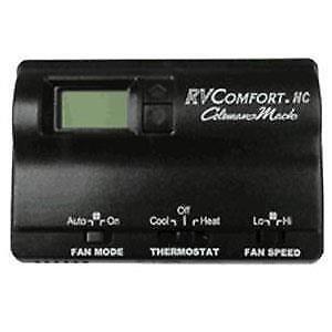 RVP 8330-3862 Coleman Mach Black Digital Wall Thermostat RV