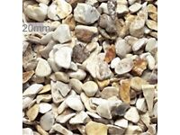 Buff Flint garden and driveway chips/gravel