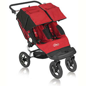 Poussette double Baby Jogger City Select - rouge