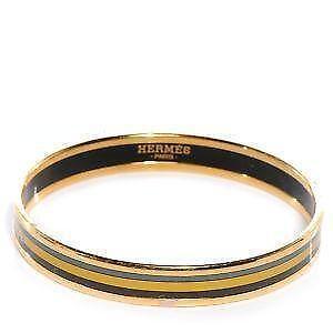 Gold Hermes Enamel Bracelet