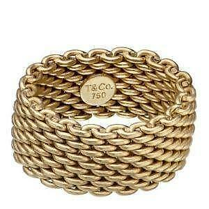 Tiffany Gold Mesh Rings