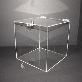 40cm Lockable Clear Acrylic Display Box