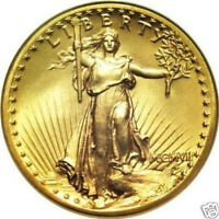 22k Gold plated St. Gaudens mini coins