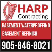 Mississauga Leaky Wet Basement Waterproofing? Call 905-846-8021