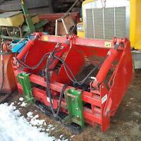 Silage block cutter loader attachment