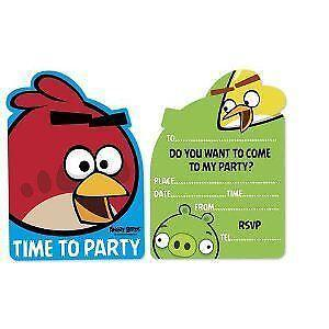 Angry birds party ebay angry birds party invitations pronofoot35fo Image collections