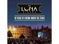 4 x Luna Cinema Tickets, Aug 8th, Kensington Palace to see Victoria & Abdul, 8.30pm, £15 each O.N.O