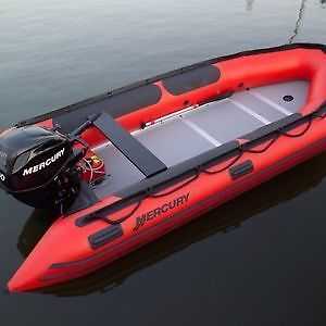 Mercury Inflatable Boat and 20 HP Mercury Motor for Sale