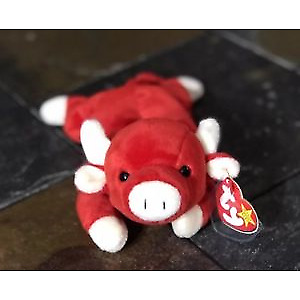 """Ty Beanie Baby """"SNORT"""" - Like New, Plastic On Swing Tags"""