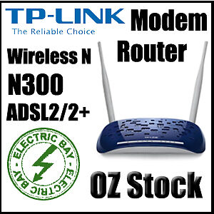 TP-Link TD-W8960N N300 4 RJ45 Ports Wireless N ADSL 2 2+ Modem Router High Speed