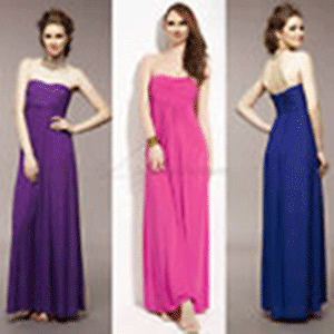 Long Pink Strapless Evening Gown Cocktail Dress, Size XXS - New