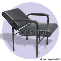 LIKE NEW PROFESIONal salon back reclining chair Black $80 or Bes