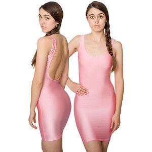 American Apparel New XS S pink scoop back dress