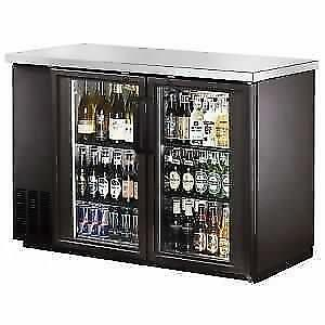 48 Narrow Glass Door Back Bar Cooler with Stainless Steel Top *RESTAURANT EQUIPMENT PARTS SMALLWARES HOODS AND MORE*