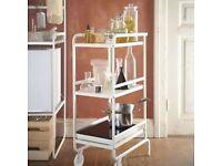 Ikea SUNNERSTA Steel Kitchen Bathroom Trolley - Excellent Condition