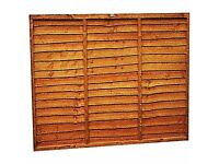FENCE PANEL OVERLAP 6FT X 6FT(183x183cm)