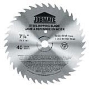 Jobmate 40T Ripping Circular Saw Blade, 7 1/4-in