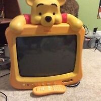 Reduced!Limited edition winnie the pooh tv with remote