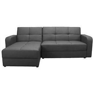leather corner sofa ebay. Black Bedroom Furniture Sets. Home Design Ideas