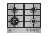 BEKO HQAW 64225 SX 4 BURNER GREY STAINLESS STEEL GAS HOB