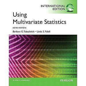 using multivariate statistics pearson new international edition