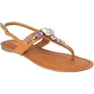 01f303b525a7 Jeweled Flat Sandals