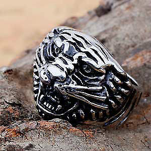 Mens Tigers Head Ring, size 9