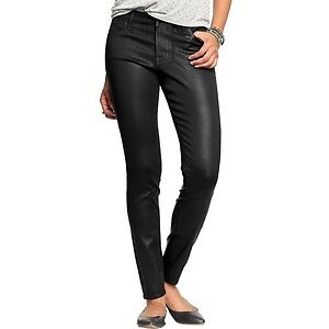 Women's Old Navy black faux leather skinny jeans Size 0 NWT London Ontario image 1