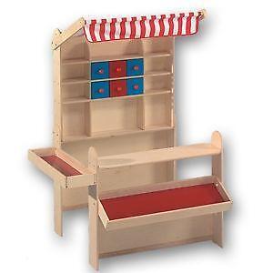 kaufmannsladen aus holz ebay. Black Bedroom Furniture Sets. Home Design Ideas