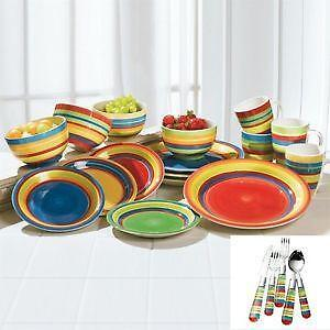 Mexican Hand Painted Dinnerware Sets