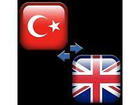 Turkish-English and English-Turkish Interpreting & Translation Services!