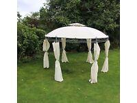 Cream 3.5m Round Gazebo Outdoor Garden Furniture NEW IN BOX