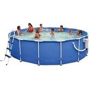 15 ft diameter above ground steel frame pool